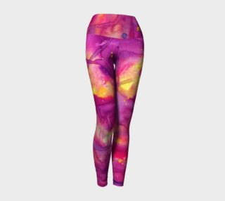 Aperçu de Sunset Bliss Watercolor Yoga Pants