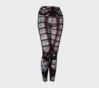 Stained glass yoga leggings preview