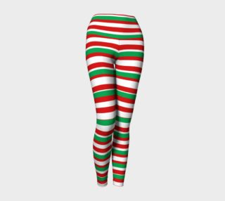 Jolly Stripes Yoga Leggings preview
