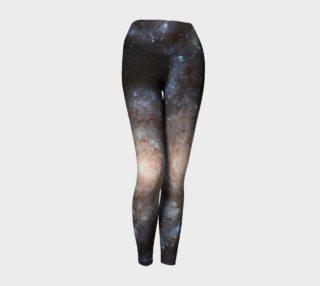Galaxy Yoga Leggings - Black, Blue, Ivory, White, Space preview