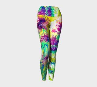 Aperçu de Violet Pompoms yoga leggings