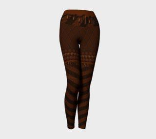 Chocolate Wonderland Yoga Leggings preview