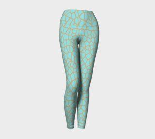 staklo (aqua/coffee) yoga leggings preview