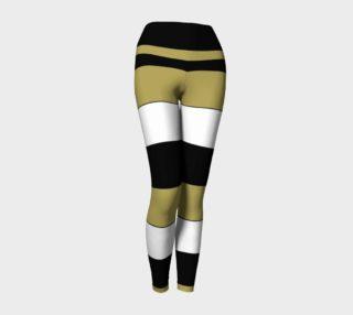 Elegant Funny Black White Brown Gold Stripes Pattern preview