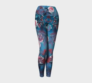 yoga leggings blue flowers preview