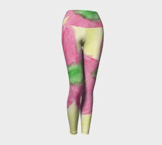 Pink Flower Blossom Yoga Leggings preview