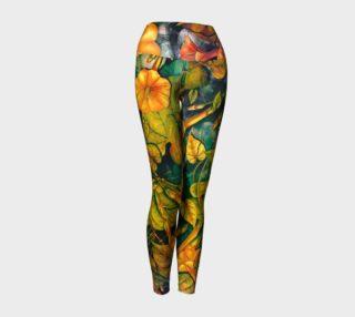 Aperçu de yoga leggings orange flowers