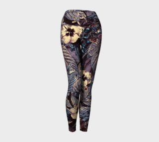 yoga leggings dark flowers preview