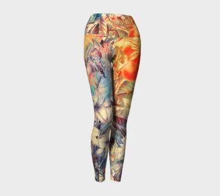 Aperçu de yoga leggings orange fruits flowers