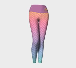 Rainbow Mermaid Yoga Leggings preview