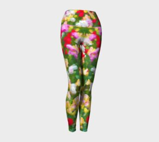 Painted Tulips Yoga Leggings preview
