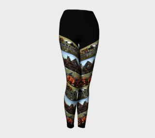 Yoga Leggings Horses Diagonal preview