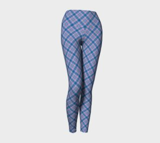Bonnie Lass Blue Plaid Yoga Leggings preview