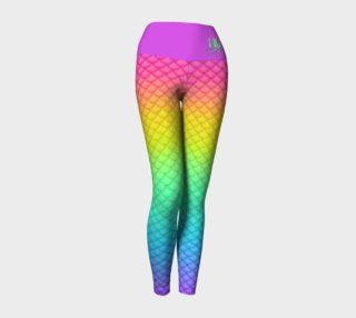 Neon Mermaid Yoga Leggings preview