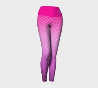 Pink Mermaid Yoga Leggings preview