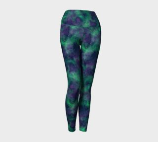 Green and Blue Space Leggings preview