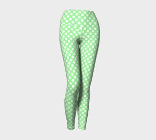 Polka Dots Pattern-Green Yoga Leggings preview