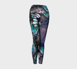 Blue Butterfly Collage Leggings preview