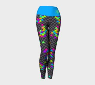 Black Rainbow Mermaid Yoga Leggings preview