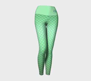 Green Mermaid Yoga Leggings preview