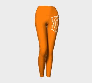 swadhithana orange and white chakra yoga pants leggings preview