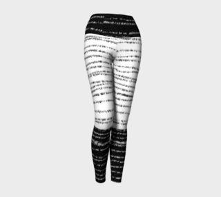 Black and White Striped Yoga Leggings preview