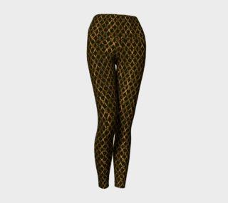 Golden Brown Scissor Stripes Yoga Pants preview