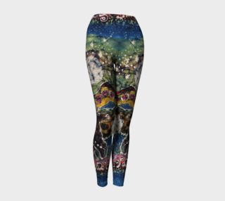 Hills Alive with Llamas Yoga Leggings preview