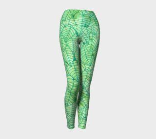 Aperçu de Green foliage Yoga Leggings