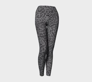 Aperçu de Faux silver and black swirls doodles Yoga Leggings