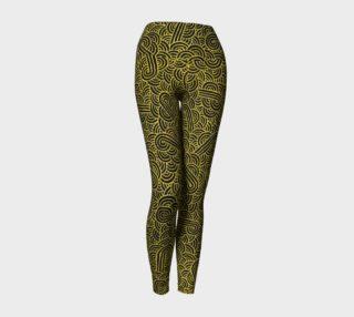 Aperçu de Faux gold and black swirls doodles Yoga Leggings