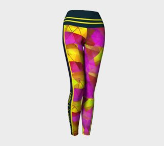 """""""If I Can't, I Must"""" Inspirational - Striped Abstract Training Leggings preview"""
