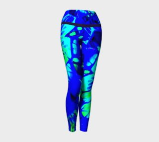 Bright Royal Blue Abstract Leggings preview