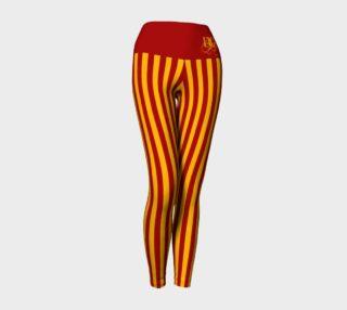Gryffindor Stripe Yoga Leggings preview