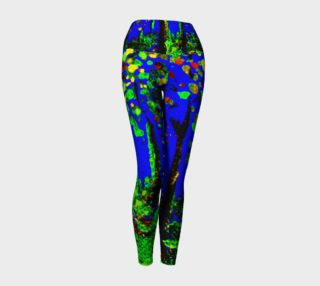 Magic Trees at Midnight Yoga Leggings preview