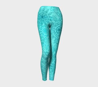 Umsted Design Boho Gypsy Flower Yoga Leggings preview