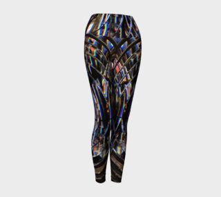 Psychedelic Cyborg Yoga Leggings preview