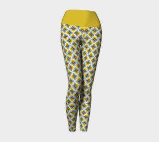 Aperçu de Petite Flowers in Yellow Yoga Leggings