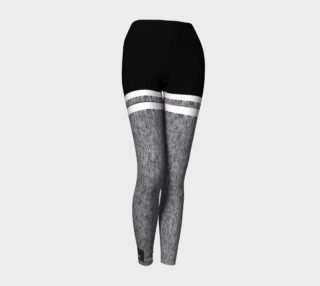 Aperçu de Yoga Leggings gray black and white
