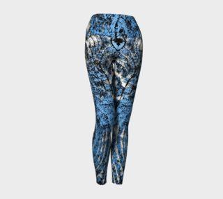 Blue Distressed Wood Yoga Leggings preview