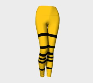 Aperçu de Yinz Black and Yellow Yoga Leggings
