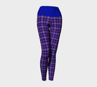 Aperçu de Blue, grey, and purple Plaid Yoga Leggings