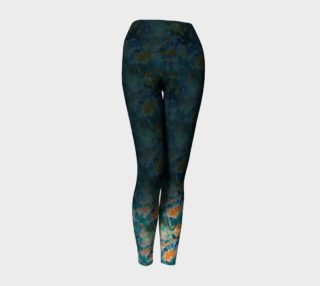 Orange Cosmos Garden Yoga Leggings preview