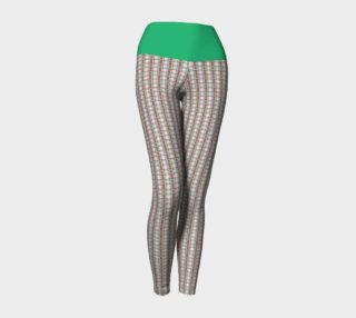 Classic Plaid Yoga Leggings with Green Band preview