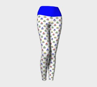 Rock Star Yoga Leggings with Blue Band preview