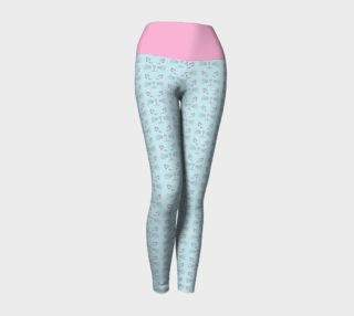 Pretty Kitty Yoga Leggings with Pink Band preview