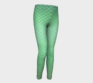 Green Mermaid Youth Leggings preview