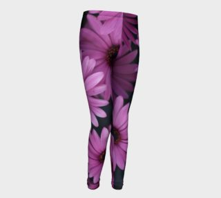 Pericallis Purple Flower Youth Leggings preview