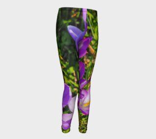 Purple Spring Crocus Youth Leggings preview
