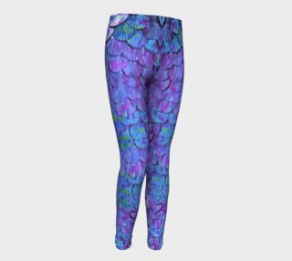 Youth/Child Lilac Mermaid Scale Leggings  preview